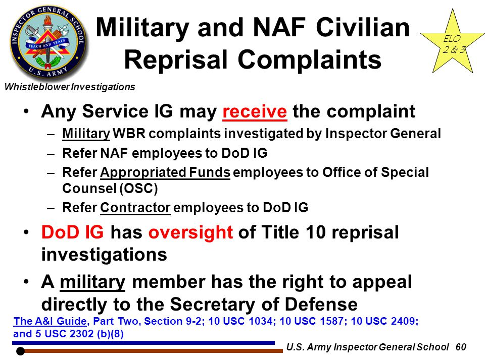 Military and NAF Civilian Reprisal Complaints