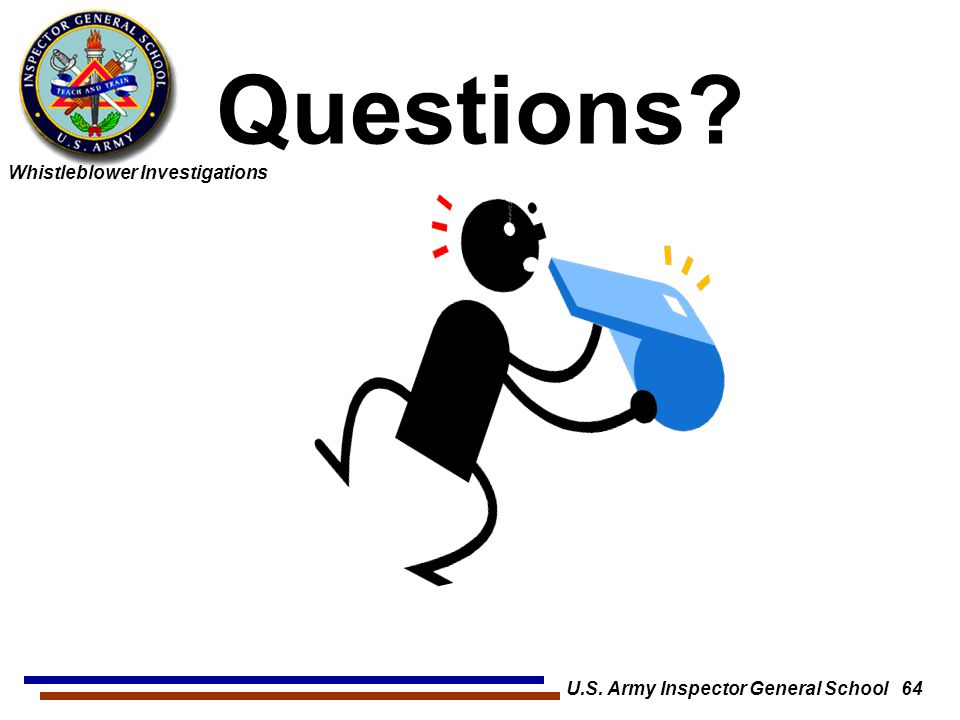U.S. Army Inspector General School 64