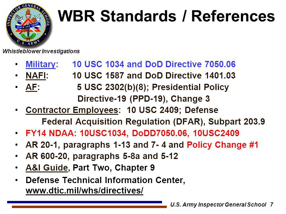 WBR Standards / References