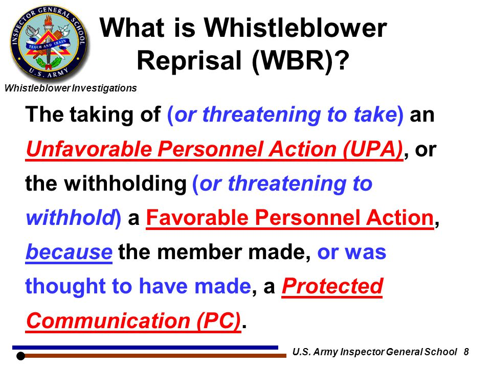 What is Whistleblower Reprisal (WBR)