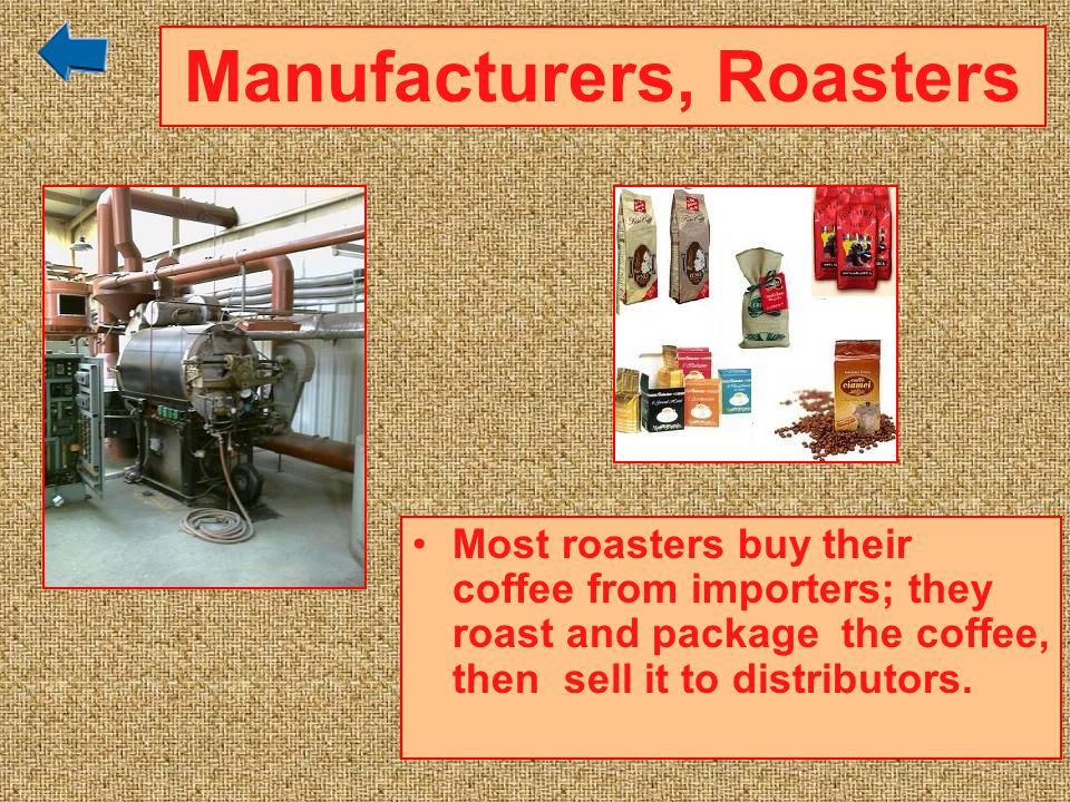 Manufacturers, Roasters