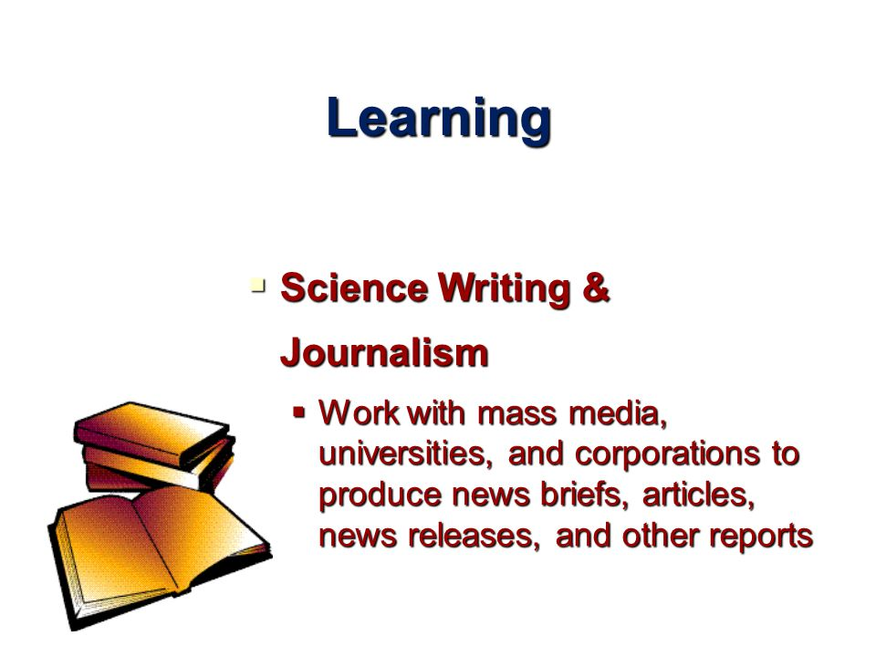 Learning Science Writing & Journalism