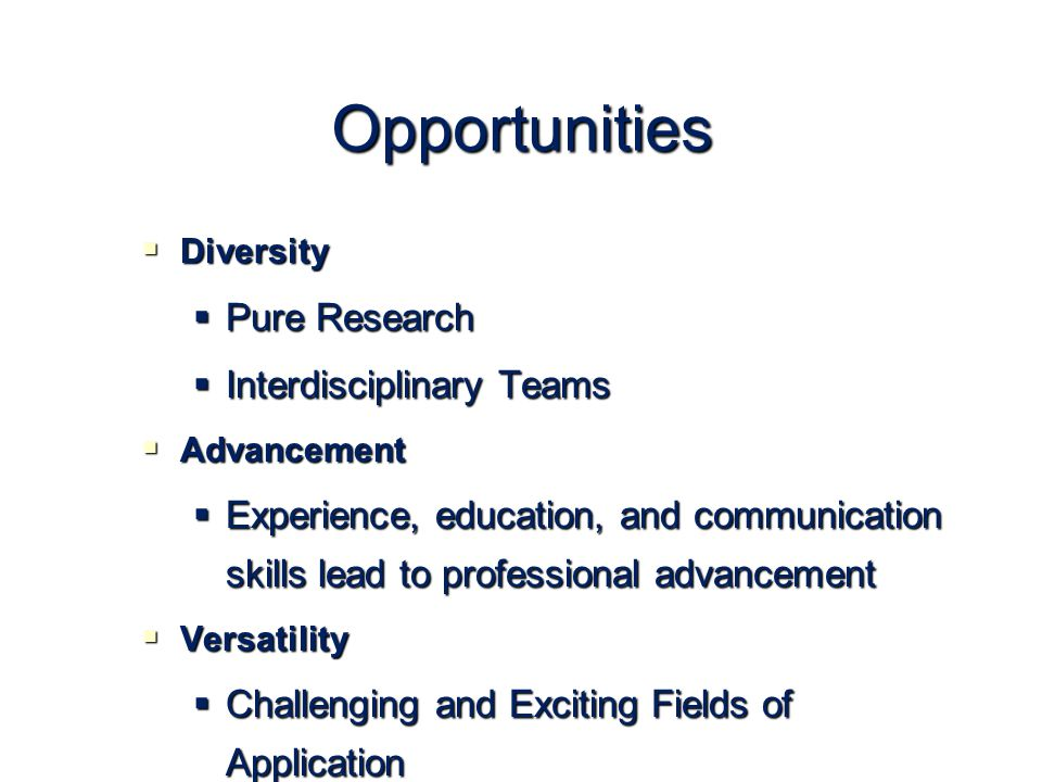 Opportunities Pure Research Interdisciplinary Teams