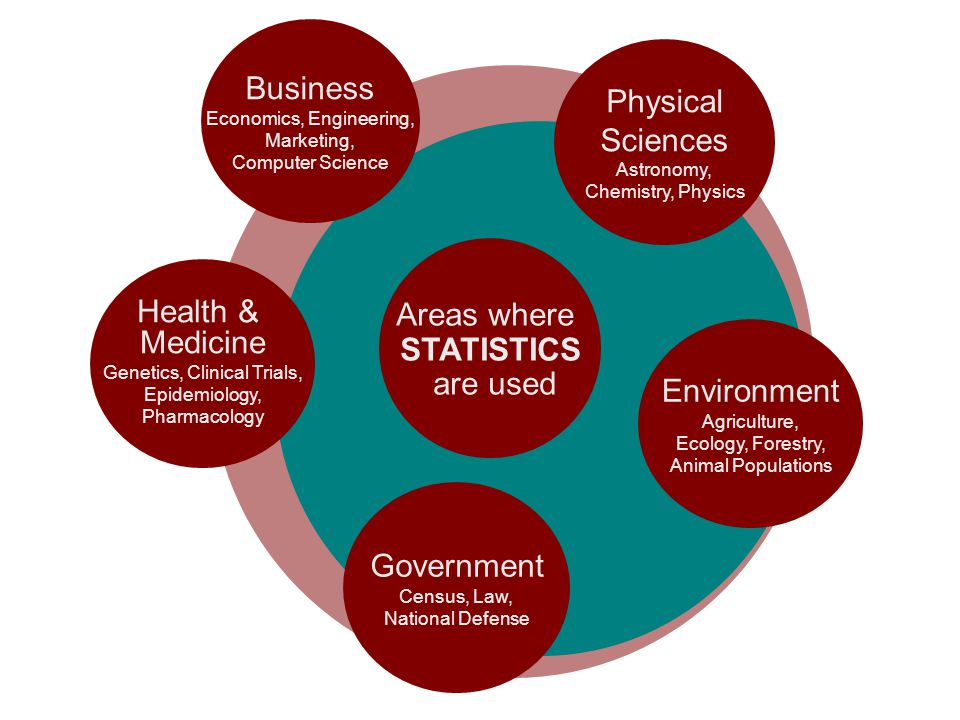Business Physical Sciences Areas where Health & STATISTICS Medicine