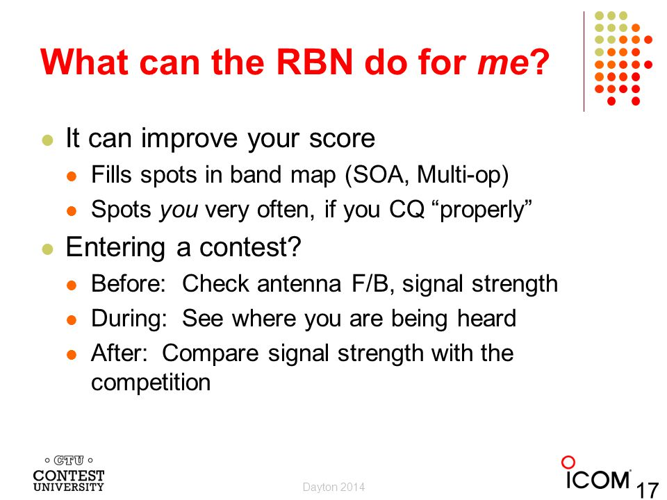 What can the RBN do for me