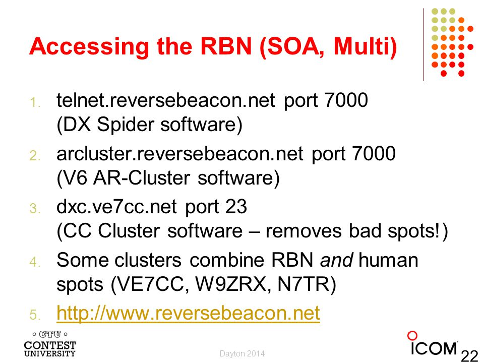 Accessing the RBN (SOA, Multi)