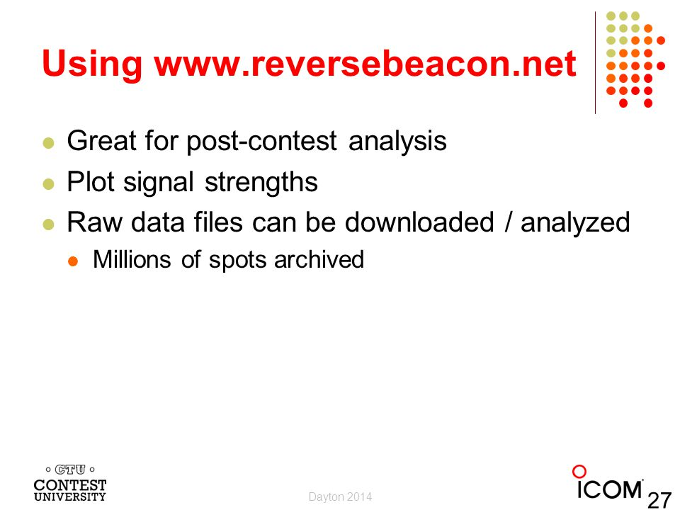 Using www.reversebeacon.net