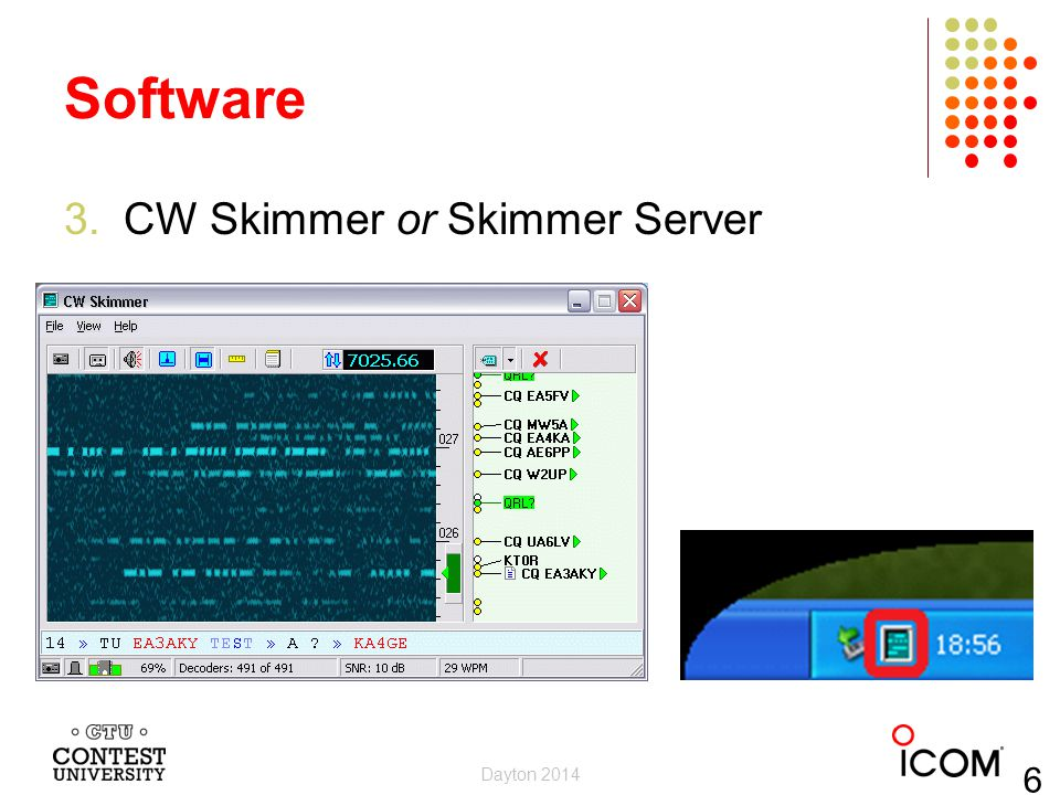 Software CW Skimmer or Skimmer Server Dayton 2014 6