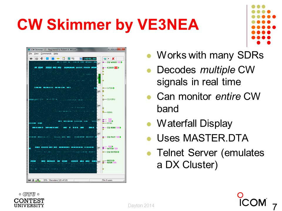 CW Skimmer by VE3NEA Works with many SDRs