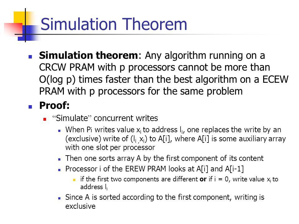 Simulation Theorem
