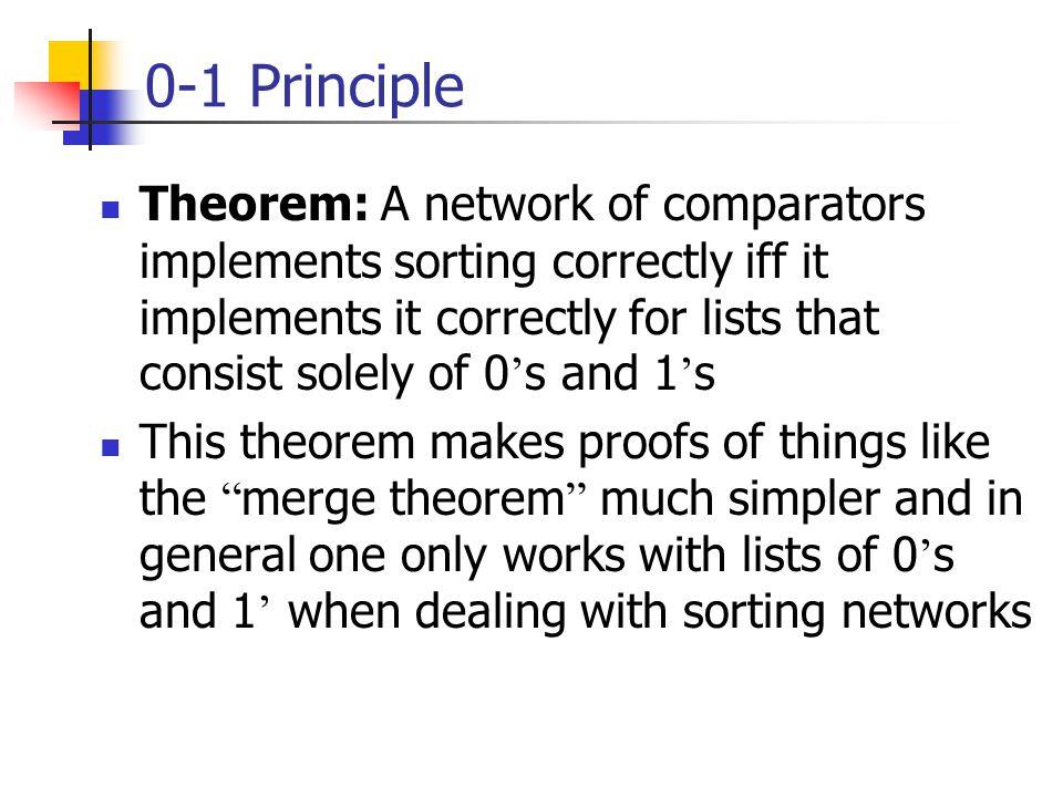 0-1 Principle
