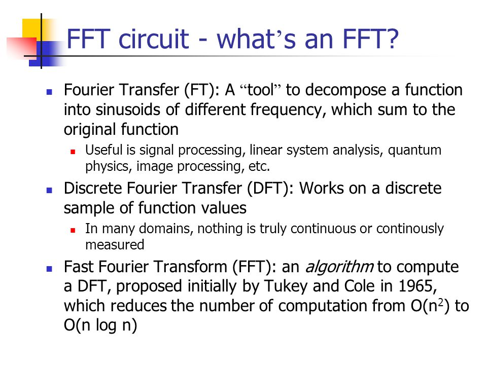 FFT circuit - what's an FFT