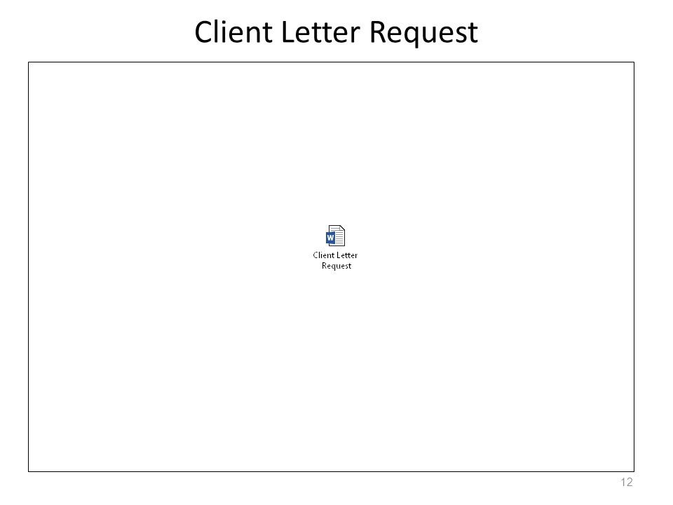 Client Letter Request