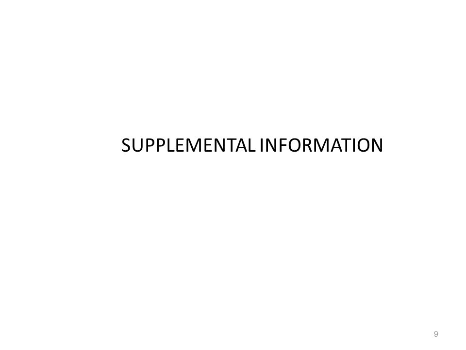 SUPPLEMENTAL INFORMATION