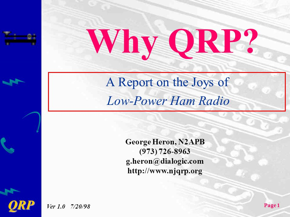 A Report on the Joys of Low-Power Ham Radio
