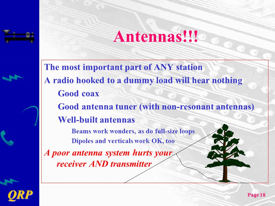 Antennas!!! The most important part of ANY station