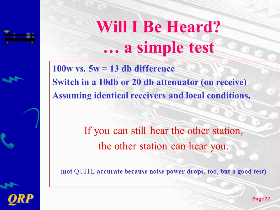 Will I Be Heard … a simple test