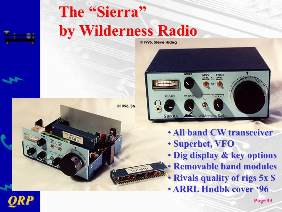 The Sierra by Wilderness Radio All band CW transceiver Superhet, VFO