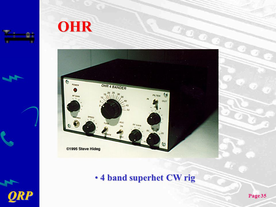 OHR 4 band superhet CW rig