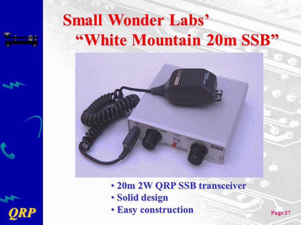 Small Wonder Labs' White Mountain 20m SSB 20m 2W QRP SSB transceiver