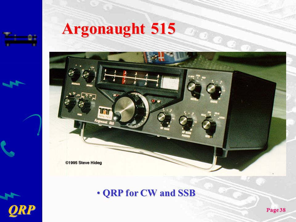 Argonaught 515 QRP for CW and SSB