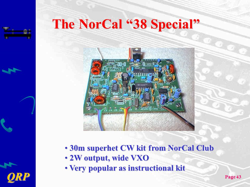 The NorCal 38 Special 30m superhet CW kit from NorCal Club