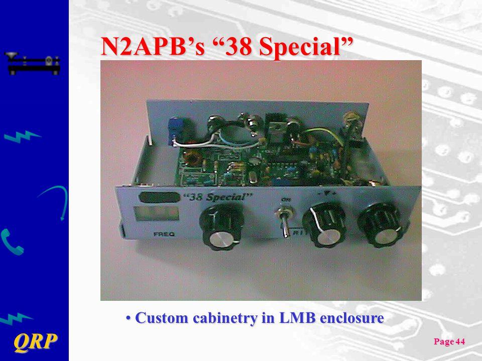 N2APB's 38 Special Custom cabinetry in LMB enclosure