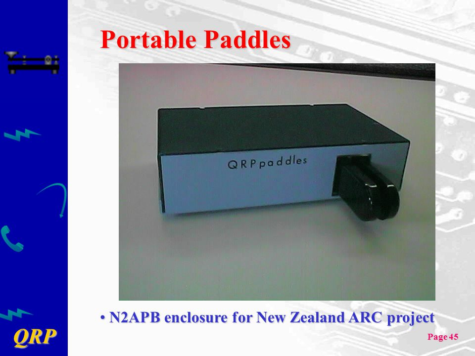 Portable Paddles N2APB enclosure for New Zealand ARC project