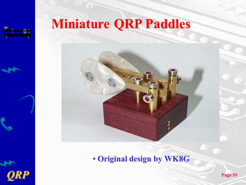 Miniature QRP Paddles Original design by WK8G