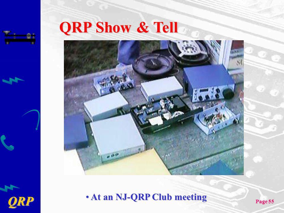 QRP Show & Tell At an NJ-QRP Club meeting