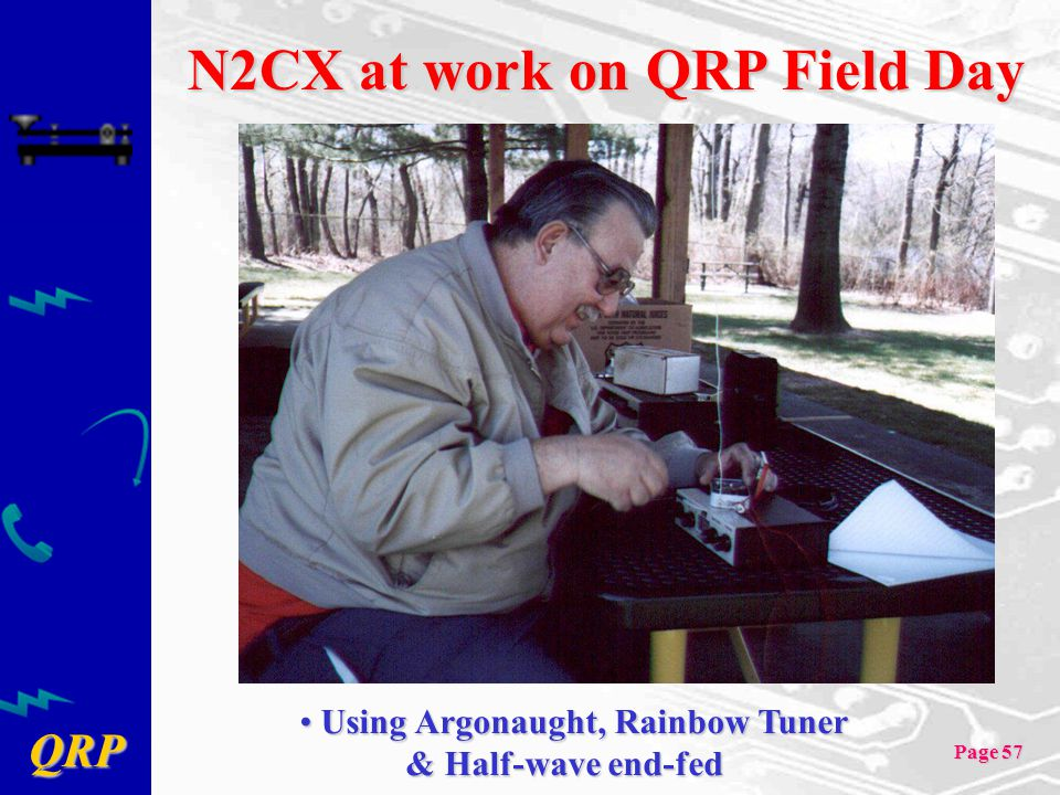 N2CX at work on QRP Field Day