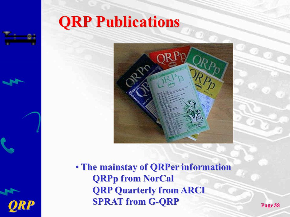 QRP Publications The mainstay of QRPer information QRPp from NorCal