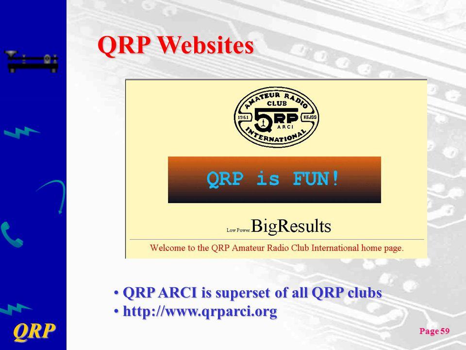 QRP Websites QRP ARCI is superset of all QRP clubs