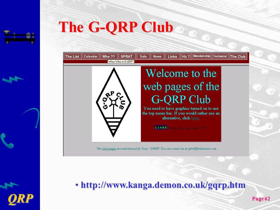 The G-QRP Club http://www.kanga.demon.co.uk/gqrp.htm