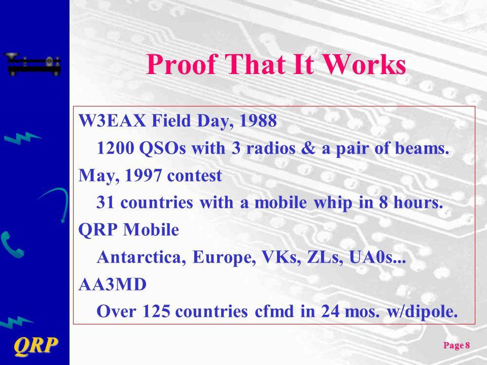 Proof That It Works W3EAX Field Day, 1988