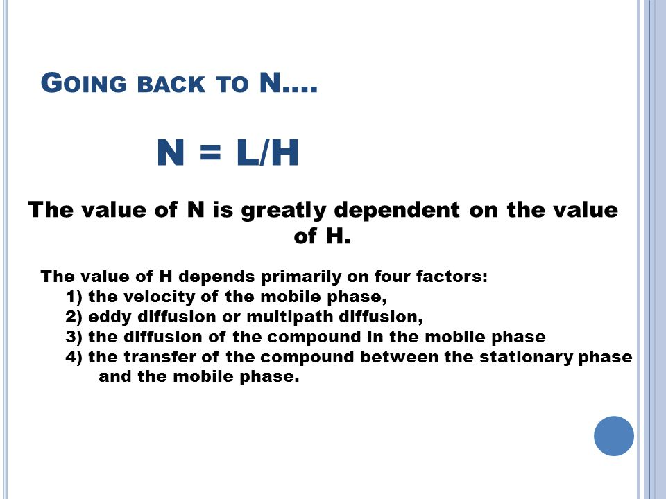 The value of N is greatly dependent on the value of H.
