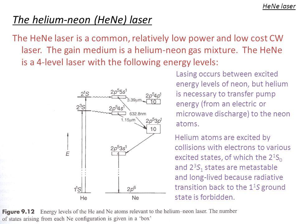 The helium-neon (HeNe) laser