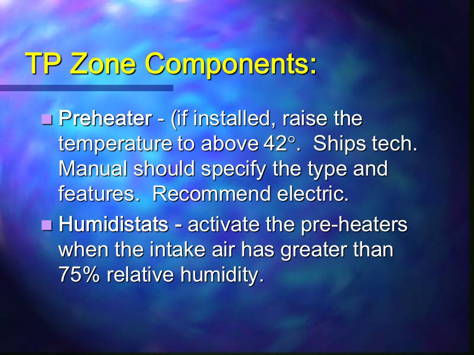 TP Zone Components: