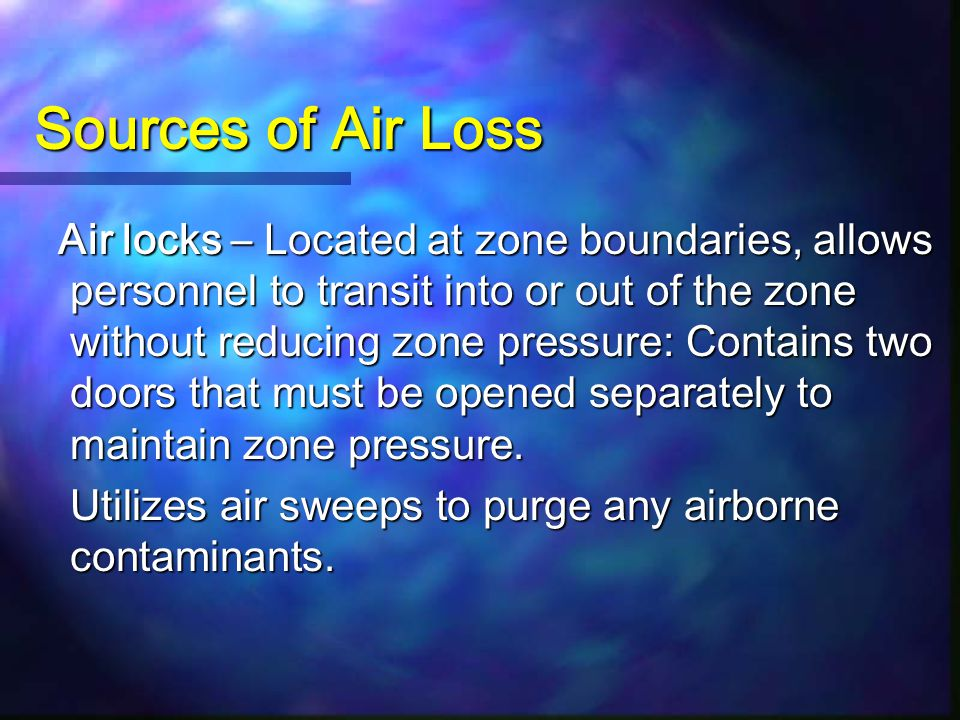 Sources of Air Loss