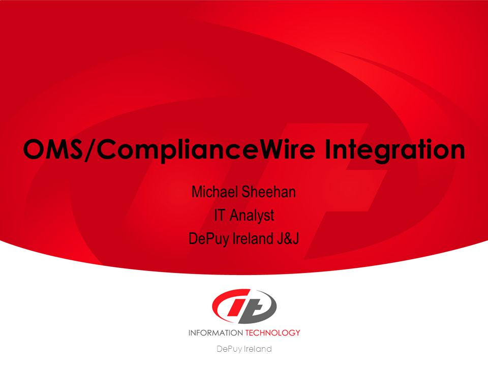 OMS/ComplianceWire Integration