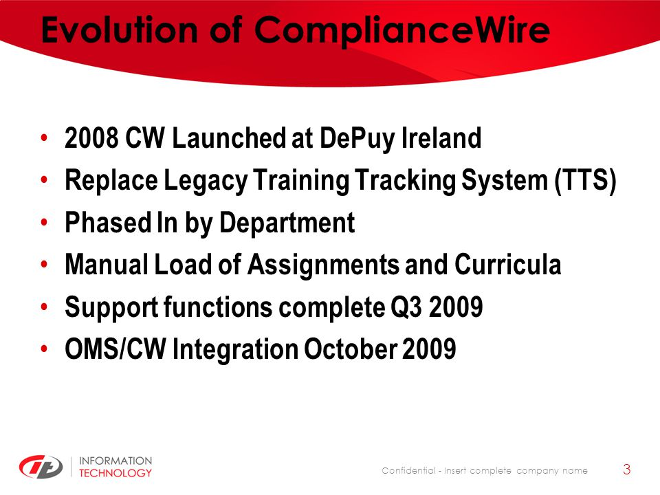 Evolution of ComplianceWire