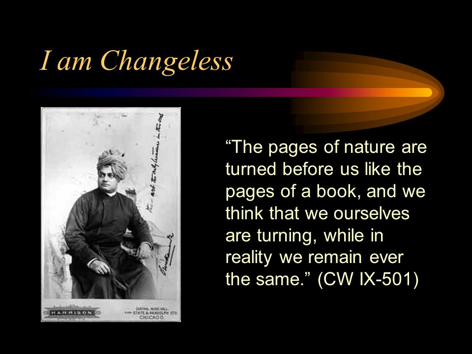 I am Changeless