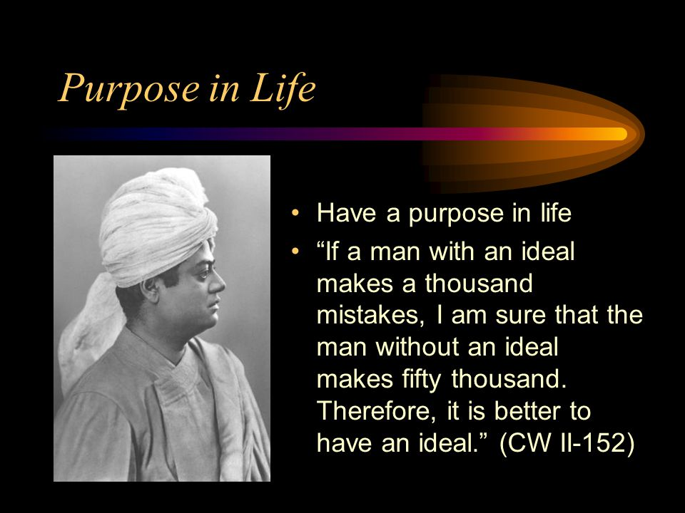 Purpose in Life Have a purpose in life