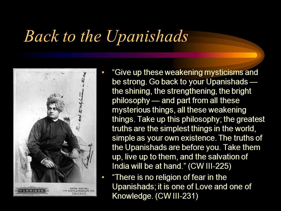 Back to the Upanishads