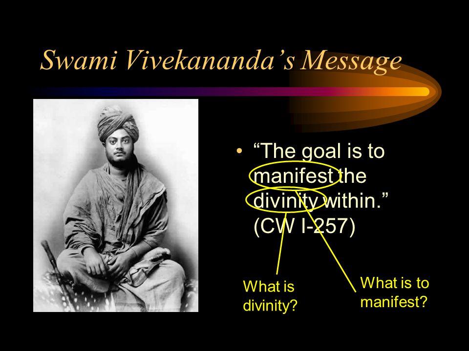 Swami Vivekananda's Message