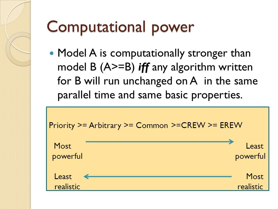Computational power