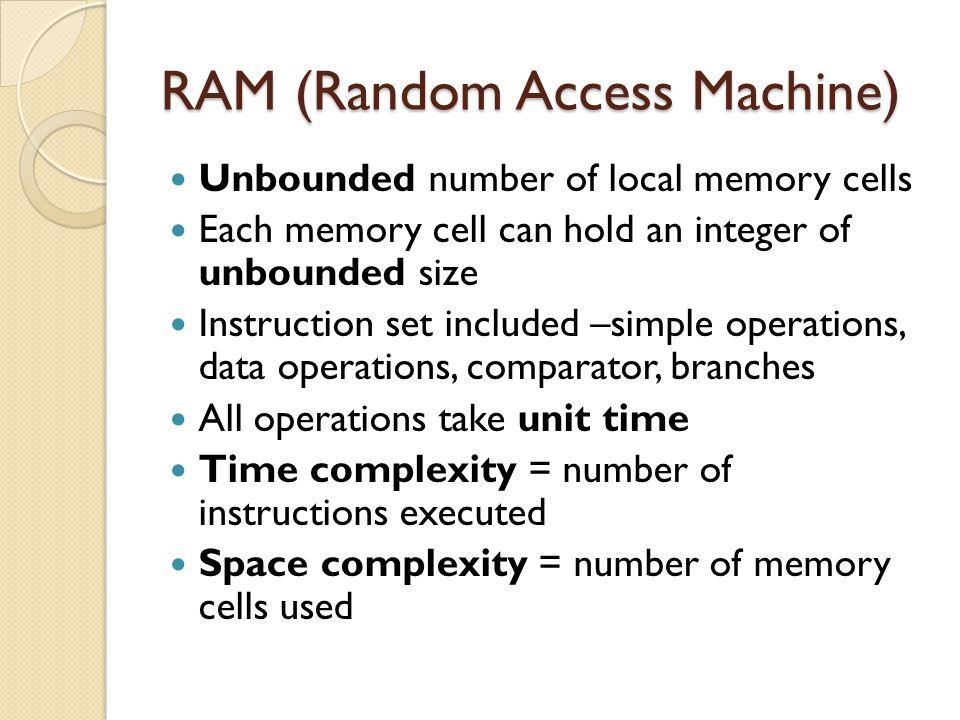 RAM (Random Access Machine)