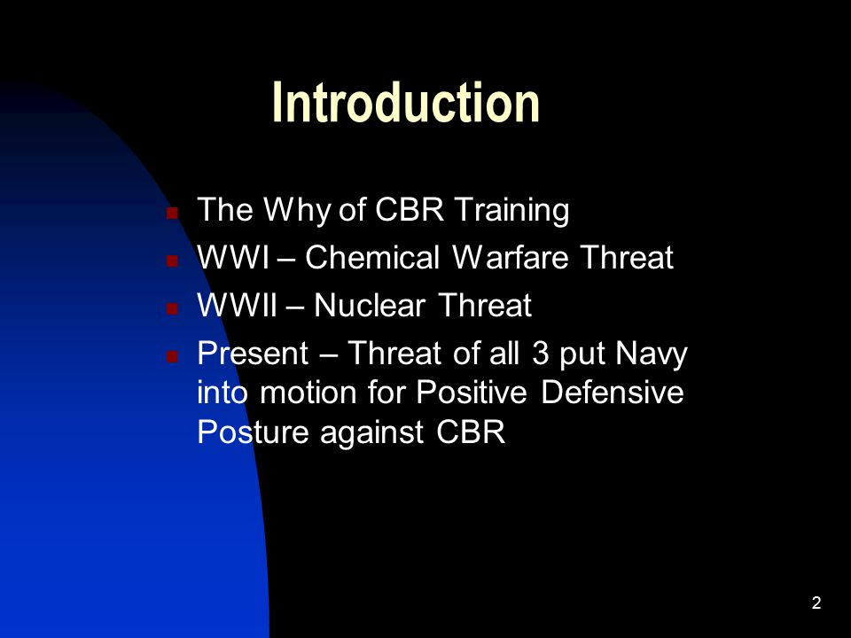 an introduction to chemical and biological warfare Medical management of chemical and biological casualties course sponsored by us army medical command activity id 2009-0054 course director introduction to biological warfare/terrorism & threat (zygmunt dembek) 3/18/2009 08:30-00:00.