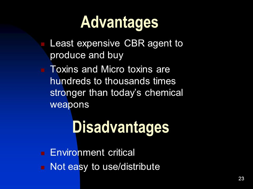 Advantages Disadvantages Least expensive CBR agent to produce and buy