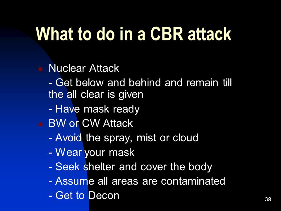 What to do in a CBR attack
